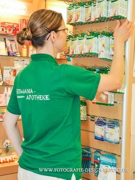 Die Arbeitskleidung von Gosda Berufsbekleidung in der Germania Apotheke