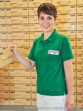 Germania Apotheke in Erfurt als Referenz mit Stick auf Grün