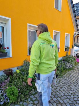 Malermeister Kern bei der Arbeit mit Gosda Berufsbekleidung in Erfurt
